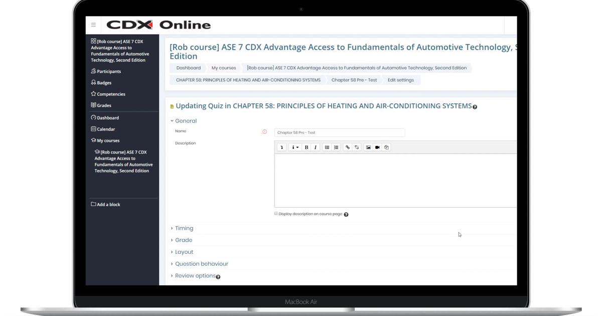 change quiz settings laptop image
