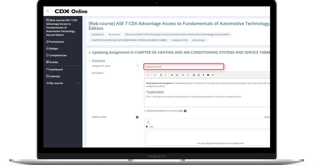 manage edit assigments laptop image