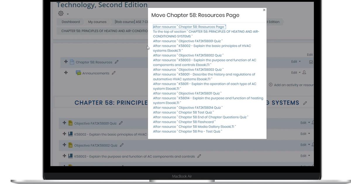 move rearrange course content laptop image